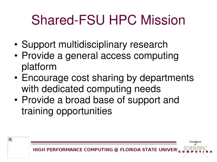 Shared-FSU HPC Mission