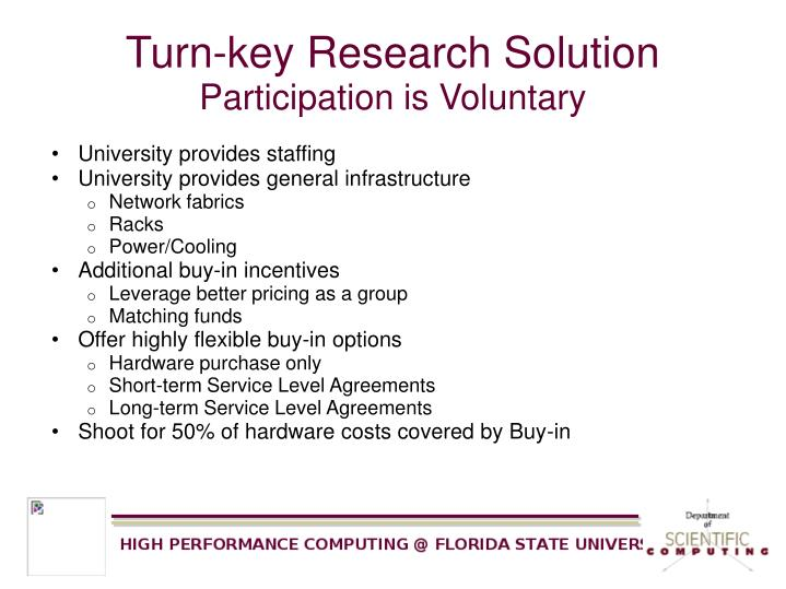 Turn-key Research Solution