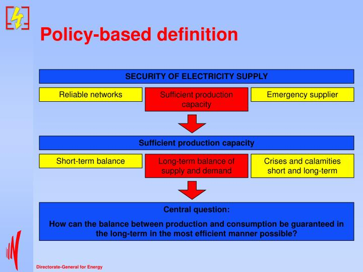 Policy based definition