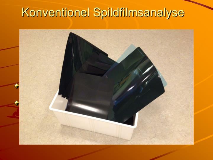 Konventionel Spildfilmsanalyse