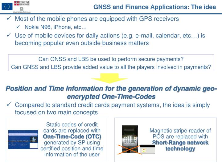 GNSS and Finance Applications: The idea