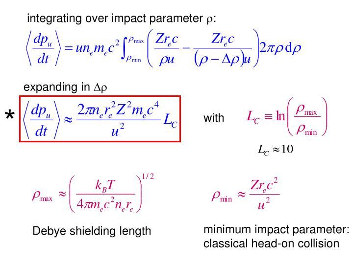 integrating over impact parameter