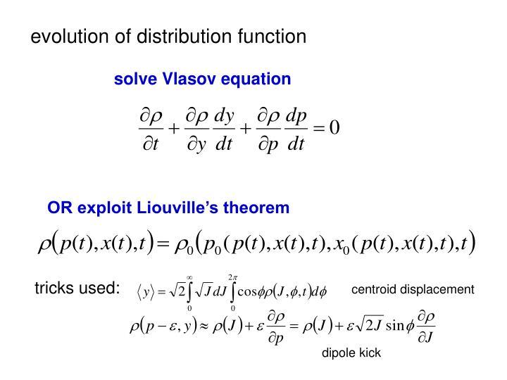 evolution of distribution function
