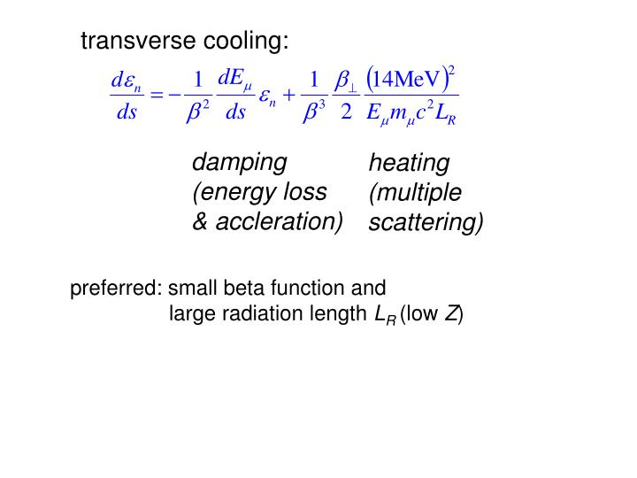 transverse cooling: