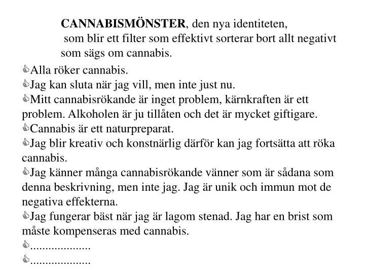 CANNABISMÖNSTER