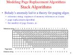 modeling page replacement algorithms stack algorithms
