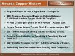 nevada copper history