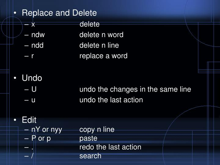 Replace and Delete