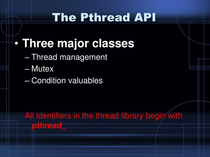 The Pthread API