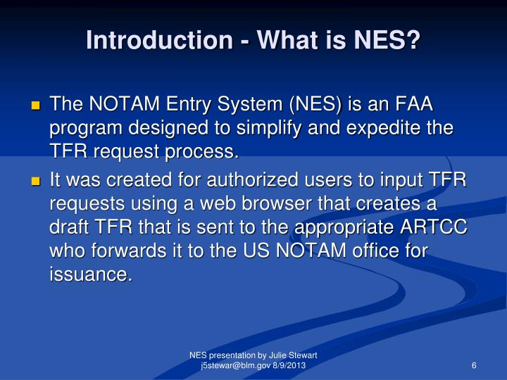 Introduction - What is NES?