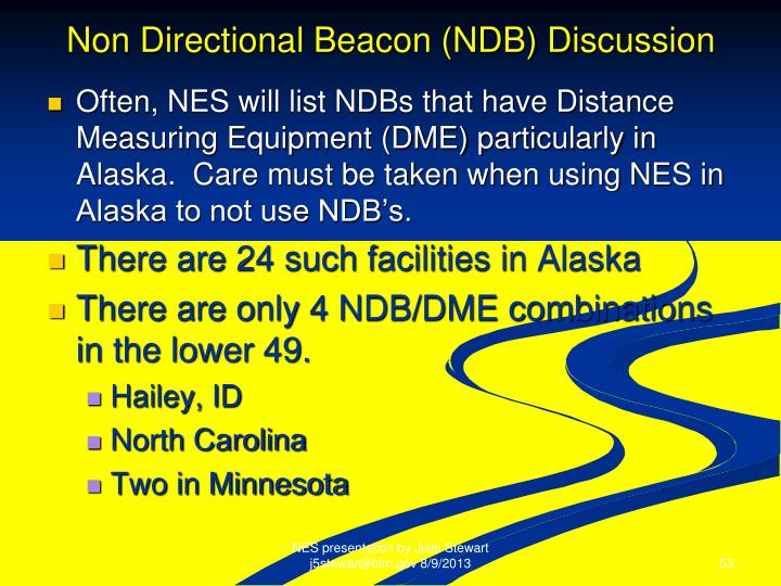 Non Directional Beacon (NDB) Discussion