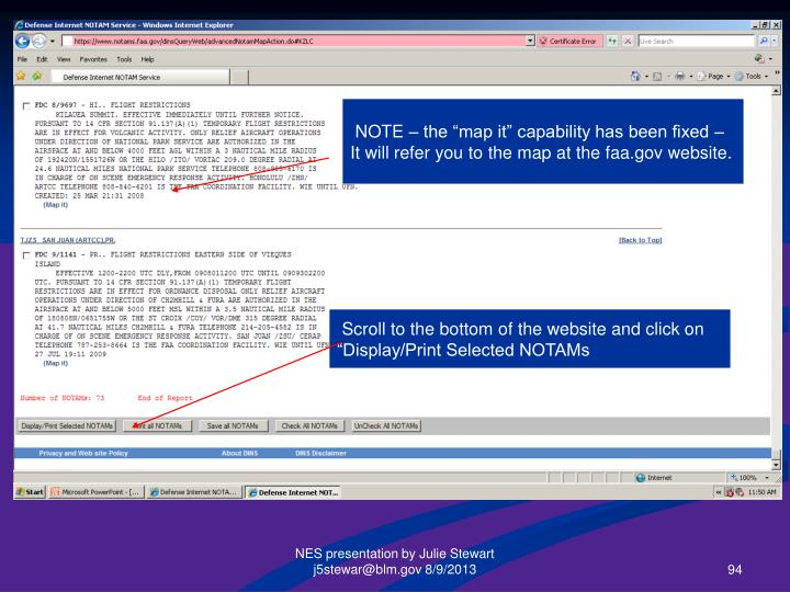 """NOTE – the """"map it"""" capability has been fixed –"""