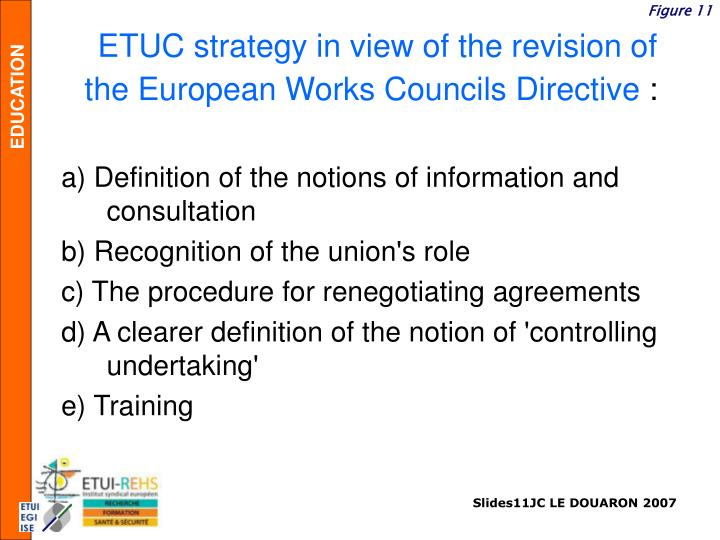 ETUC strategy in view of the revision of the European Works Councils Directive