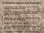 food industry important to the eu economy