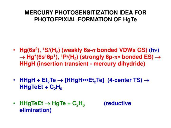 Mercury photosensitization idea for photoepixial formation of hgte