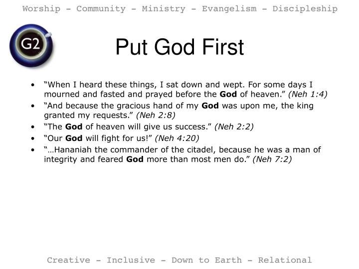 Put God First