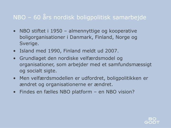 nbo 60 rs nordisk boligpolitisk samarbejde n.