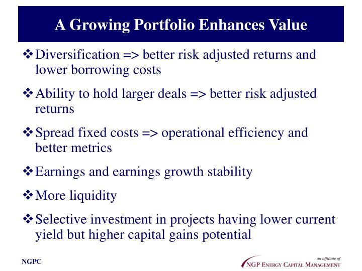 A Growing Portfolio Enhances Value