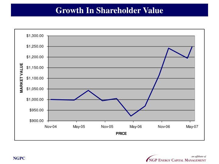 Growth In Shareholder Value