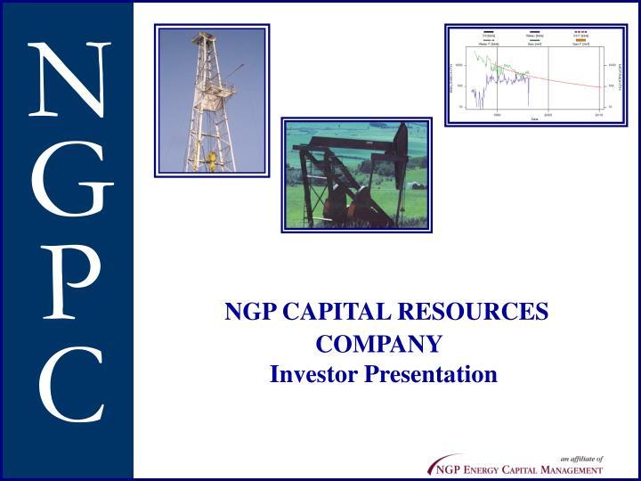 Ngp capital resources company investor presentation