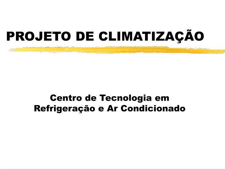 projeto de climatiza o n.