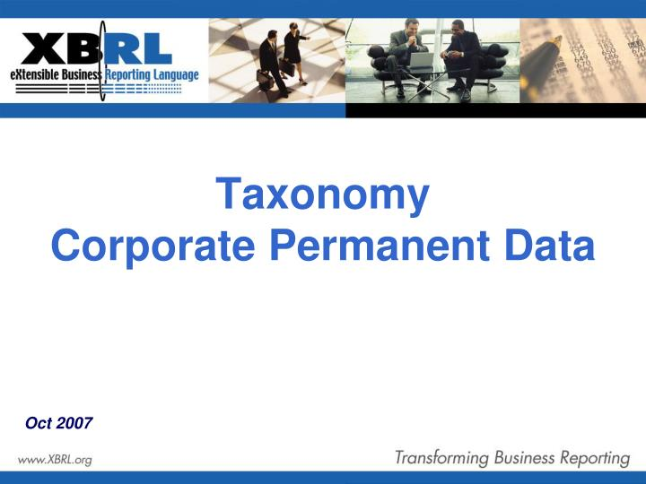 Taxonomy corporate permanent data