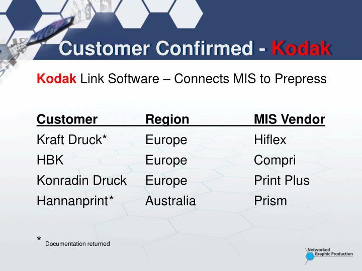 Customer Confirmed -