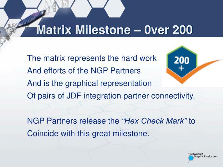 Matrix Milestone – 0ver 200