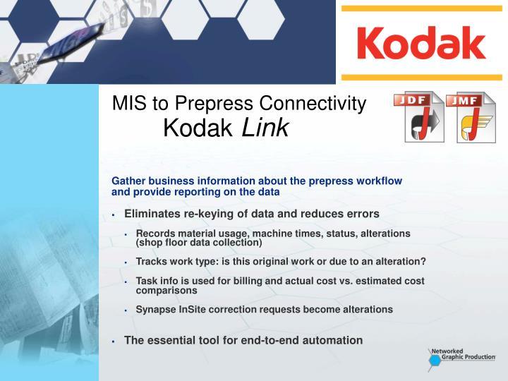 MIS to Prepress Connectivity