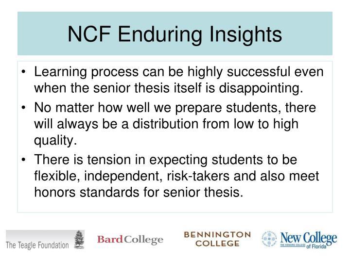 NCF Enduring Insights
