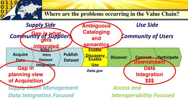 Where are the problems occurring in the Value Chain?