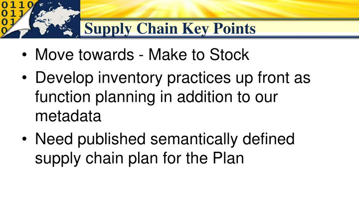 Supply Chain Key Points