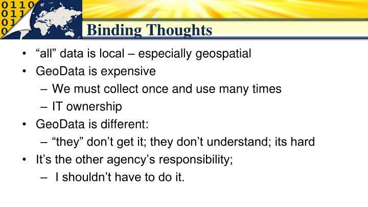 Binding Thoughts