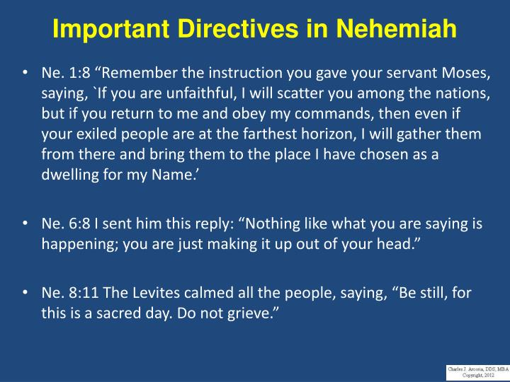 Important Directives in Nehemiah