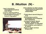 b intuition n