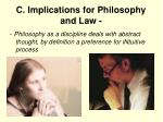 c implications for philosophy and law2