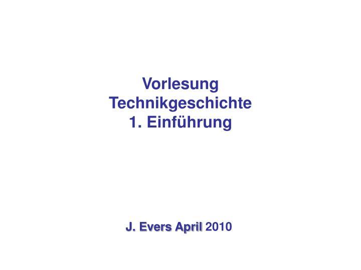 vorlesung technikgeschichte 1 einf hrung n.