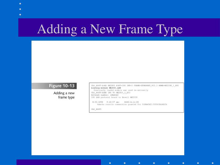 Adding a New Frame Type