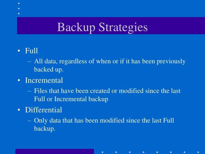 Backup Strategies