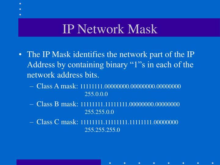 IP Network Mask