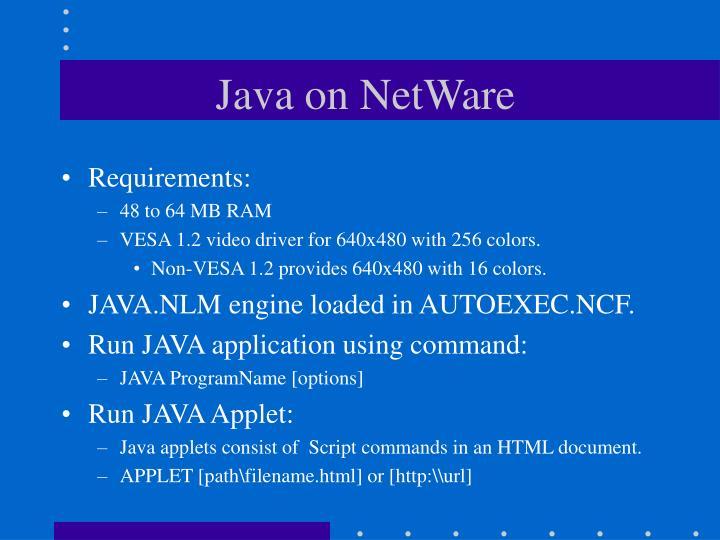 Java on NetWare