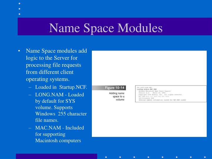 Name Space Modules