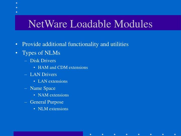 NetWare Loadable Modules