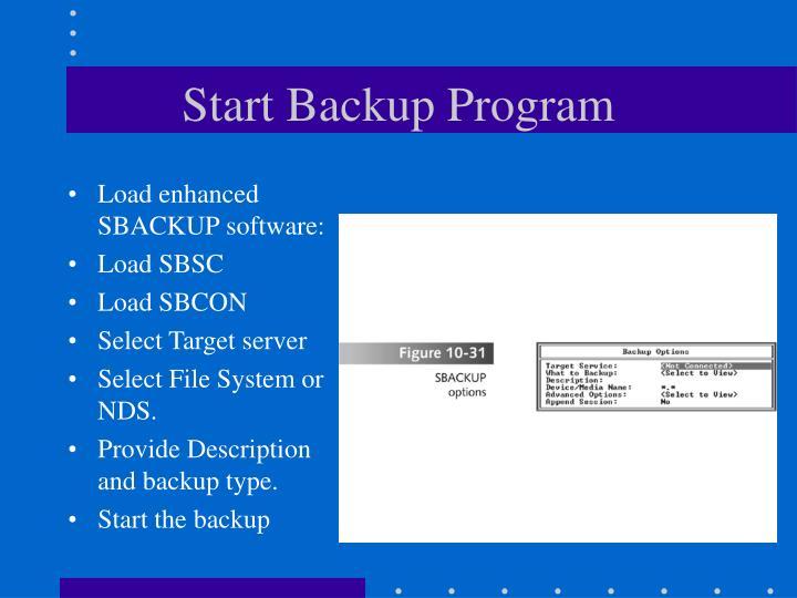 Start Backup Program