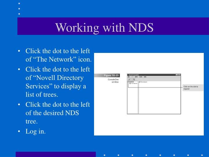 Working with NDS