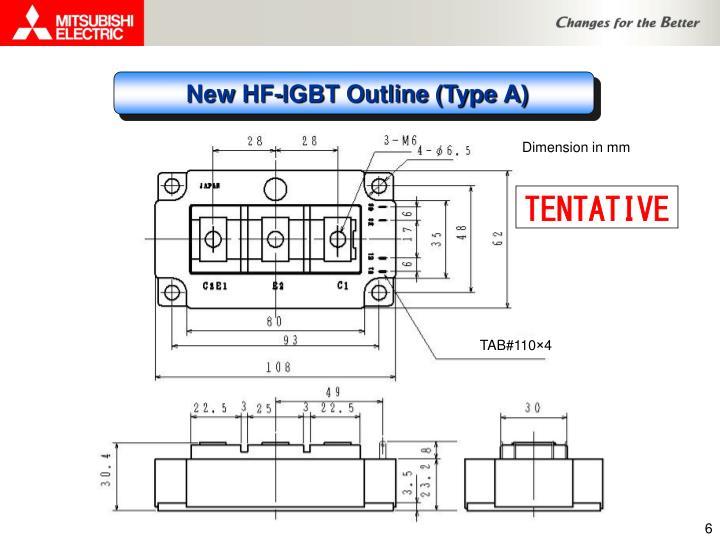 New HF-IGBT Outline (Type A)