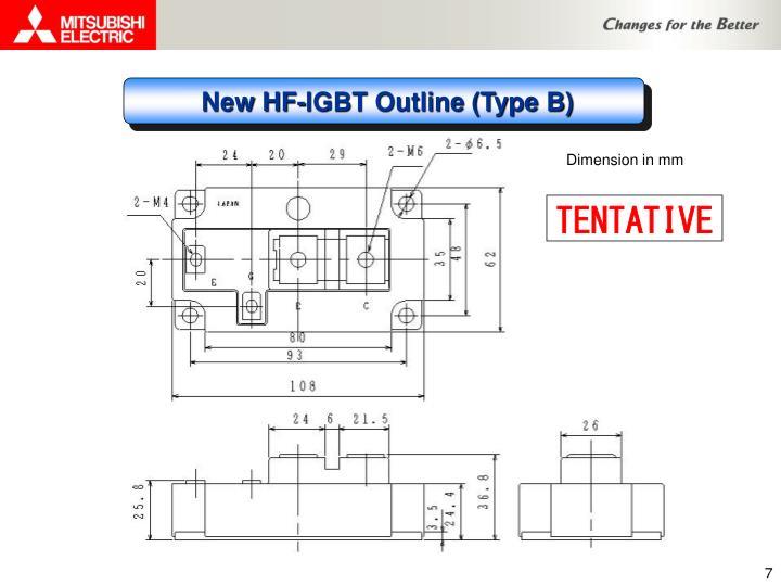 New HF-IGBT Outline (Type B)