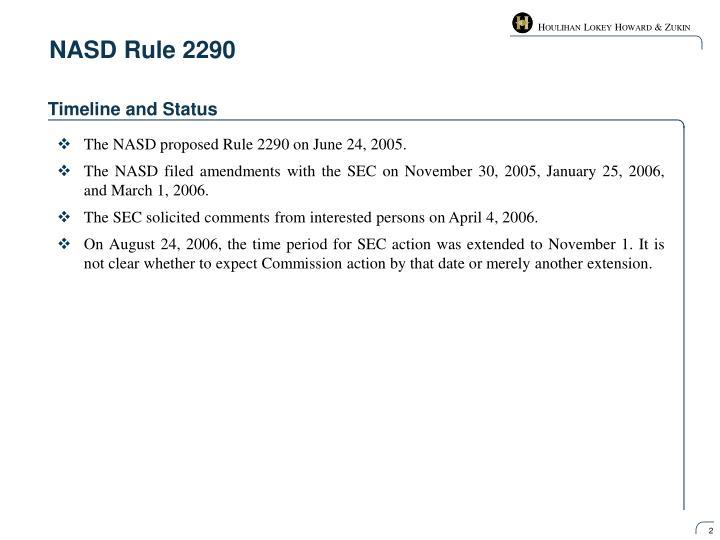 Nasd rule 2290