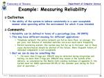 example measuring reliability