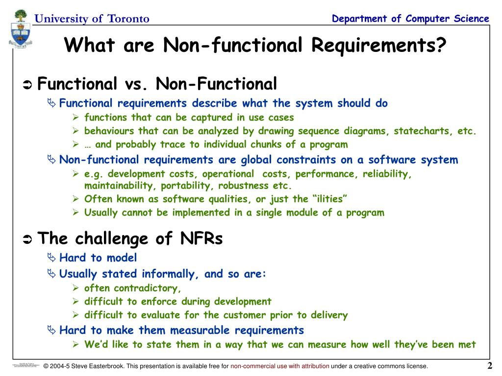 PPT - Lecture 18: Non-Functional Requirements (NFRs
